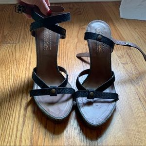 UGG Italian Collection Snakeskin Wrap Heels